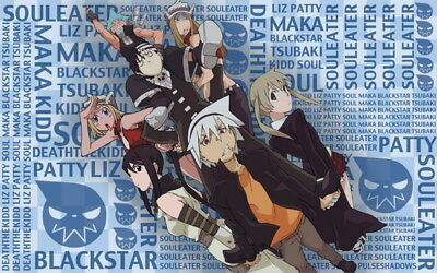 """050 Soul Eater - Shinigami Death the kid Anime 38""""x24"""" Poster"""