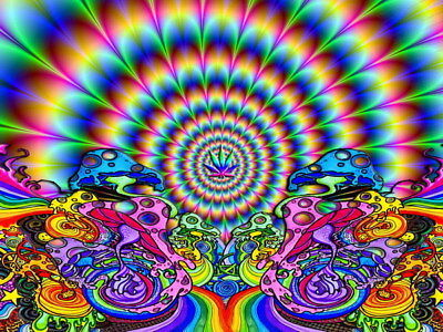 "079 Trippy - Art Print Digital Miscellaneous psychedelic 32""x24"" Poster"