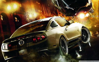 """053 Mustang - Ford Shelby GT500  Classic Racing Car concept 38""""x24"""" Poster"""