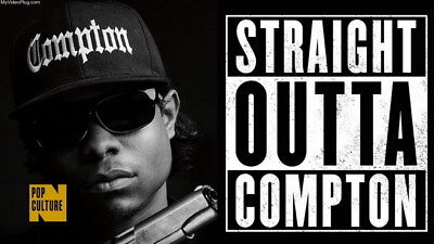 """055 Straight Outta Compton - Ice Cube MC Ren HIPHOP Moive42""""x24"""" Poster"""