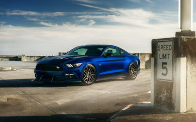 "078 Mustang - Ford Super Car Racing Car concept 38""x24"" Poster"