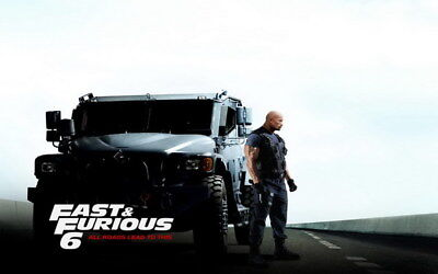 "049 Dwayne Johnson - The Rock Fast Furious Muscle Strong USA Star 38""x24"" Poster"