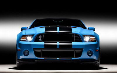 """059 Mustang - Ford Shelby GT500  Classic Racing Car concept 38""""x24"""" Poster"""