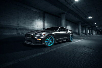 "087 Mustang - Ford Super Car Racing Car concept 36""x24"" Poster"