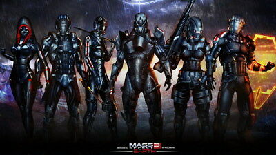 "042 Mass Effect 3 - ME Killer Fighting Shooting Hot TV Game 42""x24"" Poster"