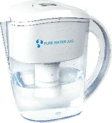 Alkaline Water Jug / Pitcher + 4 seven stage filters. Ion exhange Resins 3.5 L