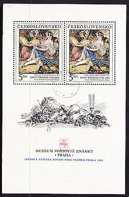Czechoslovakia 1988 - International Exhibition Miniature Sheet.- Used