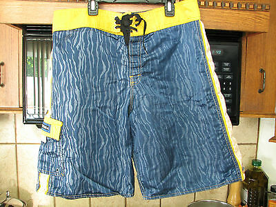 Quiksilver surf board shorts 1980s 1990s vintage Nylon Surfing rock star