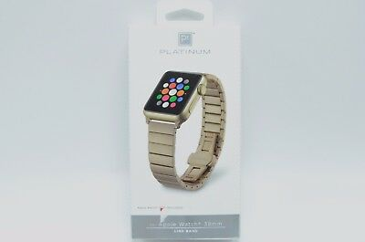 Platinum - Link Stainless Steel Band for Apple Watch 38mm - Matte gold