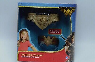 DC Comics Wonder Woman Headdress Arm Band Cosplay Costume Outfit Headband Girls