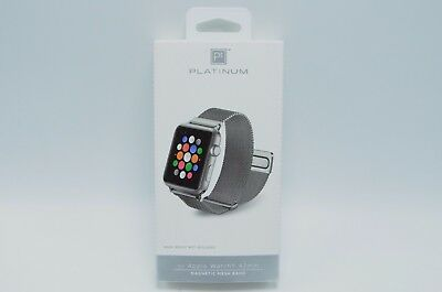 Platinum Magnetic Stainless Steel Mesh Band for Apple Watch 42mm  SILVER