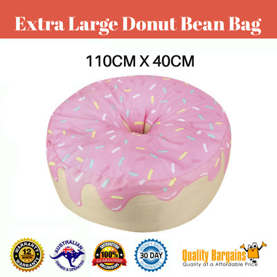 400 L Extra Large Donut Beanbag Pink Chair Cover Kids Fun Cozy Brand Living .