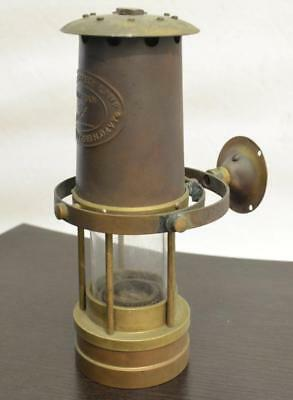 Miners Safety Lamp, Cambrian, Branded WR Clanny & Sir H Davy