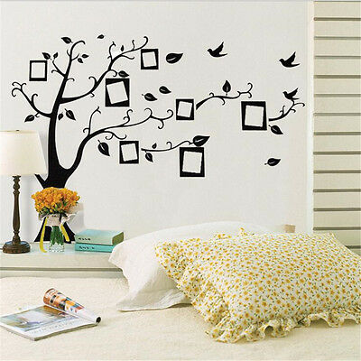 Photo Tree Photo Wallpaper Floor/Wall Decoration Sticker Removable Mural Decals