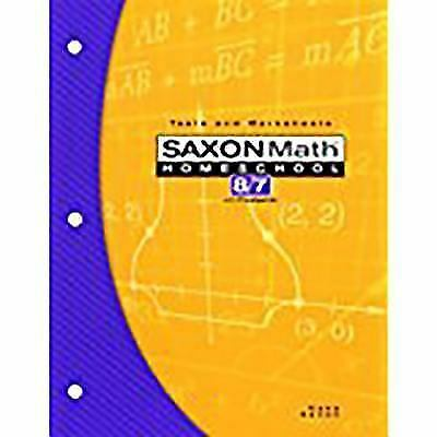Saxon math homeschool 87 with prealgebra tests worksheets book saxon math 87 tests and worksheets by saxon publishers staff and stephen fandeluxe Gallery