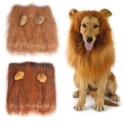 Pet Clothes Halloween Dog Costumes Fancy Dress Up Lion Mane Wig for Large Dogs