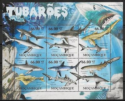 Mozambique - Requins - N° 4422 A 4427 Et Bf 507 - Neuf**