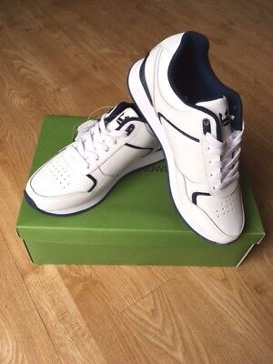 Bowls Trainer Crown King Leather Upper White/navy Unisex Size 9