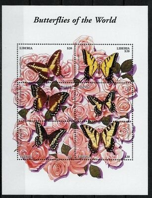 Liberia - Papillons - N° 3367 A 3372 - Neuf**