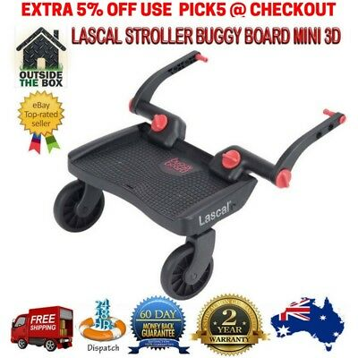 Lascal Toddler Buggy Board Stroller Pram Wheel Skateboard Joggers Mini 3D Black