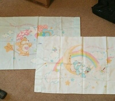 Care Bears Vintage Twin bedding sheet set from 1982! VHTF!