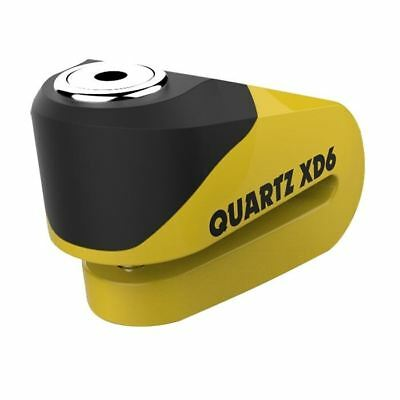 Oxford Quartz XD6 Motorcycle Scooter Disc Lock 6mm Pin Strong Alloy Yellow New