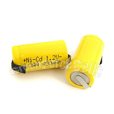 1 pièce 2/3AA 2/3 AA 400mAh NiCd Ni-Cad 1.2V Volt Batterie rechargeable cellule