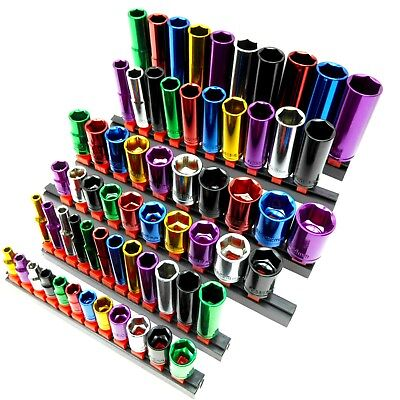 "Coloured Socket Set 1/4"" 3/8"" 1/2"" Deep Drive  Multi Listing"