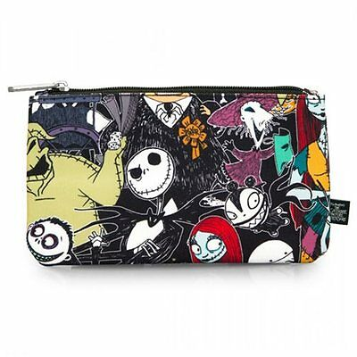 NEW Disney LOUNGEFLY Nightmare Before Christmas Pencil / Make Up / Coin Case NIB