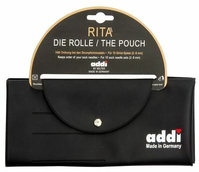 """ADDI """"Rita the DPN Pouch"""" Storage Case for 10 sets of Double Pointed Needles"""