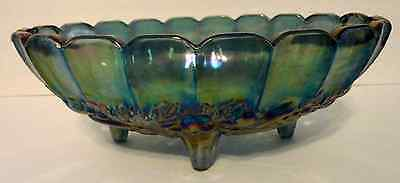 Carnival Glass footed Marigold bowl