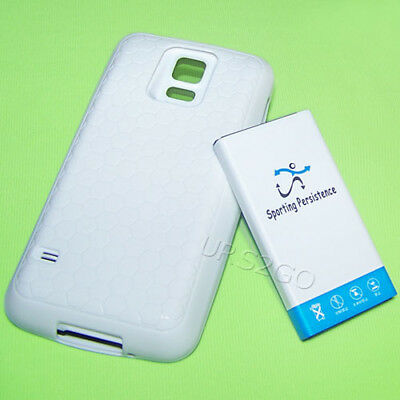 3IN1 8900mAh Extended Battery Cover TPU Back Case for Samsung Galaxy S5 SM-G900A