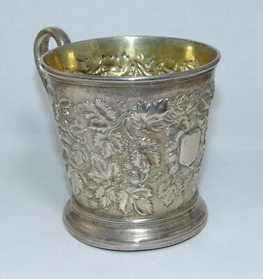 Antique Sterling Silver Christening Mug by John & Roskell Victorian UK England