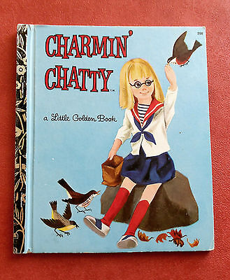 "Little Golden Book ~ CHARMIN'  CHATTY ~ Sydney  #308 HC Book ""A"" Edition in GC"