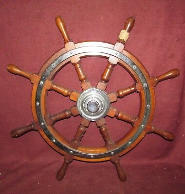 Antique Nautical Authentic Ships or Yacht Wheel Modern Decorative Appeal