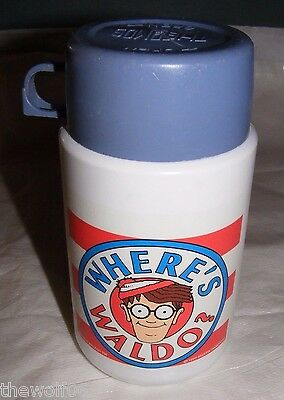 1990 Where's Waldo Thermos Martin Handford