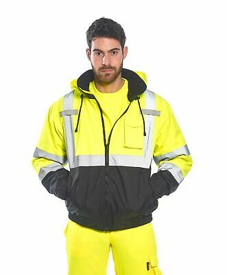 High-Visibility Bomber Rain Jacket 2 Jackets in 1 Reflective Work Portwest US364