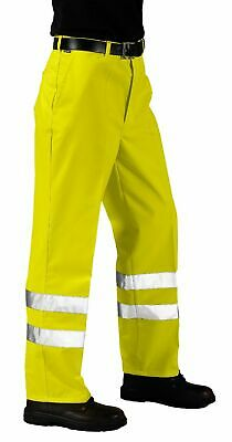 Portwest E041 HiVis Reflective Safety Polycotton Stain Resistant Work Pants ANSI