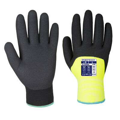 Winter Gloves Thermal Lined Safety Work Nitrile Cold Glove (2 Pair for $12) A146