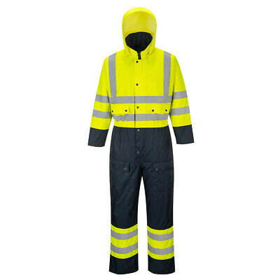 Portwest S485 Hi Vis Contrast Coverall, Waterproof, Quilt Lined, ANSI Class 3