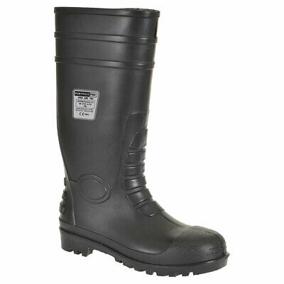 Portwest FW95 Total Safety PVC Boot, Steel Toecap, Puncture Resistant Mid-Sole