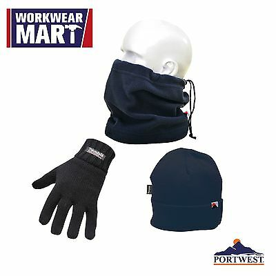 Winter Essentials Pack, Gloves Hat Neck Tube, Cold Weather, One Size, Portwest