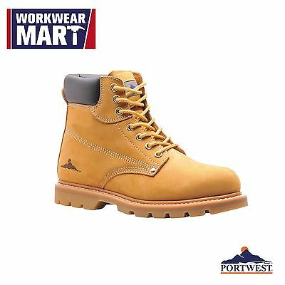 Safety Work Boots Steel Toe Cap Shoe Slip Resistant Leather NEW Portwest FW17