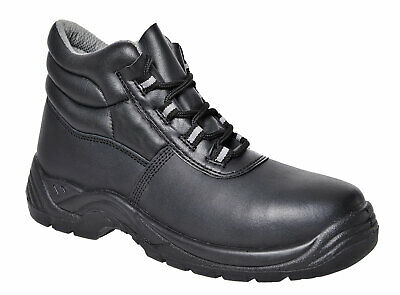 Safety Work Boots Shoes Composite Toe Non Metallic, Black Leather 4-14, FC21