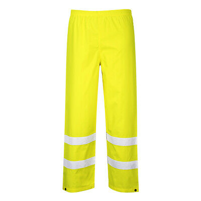 Hi Vis Rain Pants Safety High Visibility Waterproof Windproof, Portwest S480