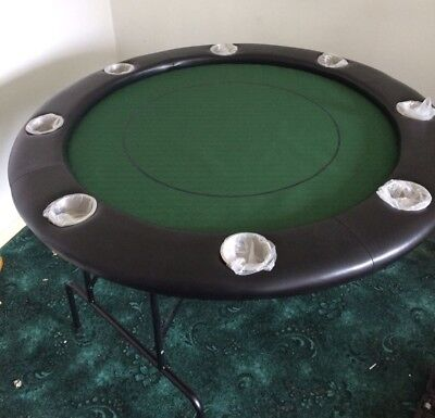 Brand New 8 Seater Poker Table with Fold Away Legs and Cup Holders