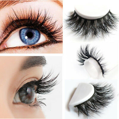 10/5X False Eyelashes Mink Hair Handmade 3D Natural Eye Lashes Makeup Extension