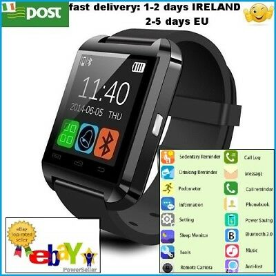 Smart Watch Bluetooth Remote Camera Calculator for Android Smartphone BLACK