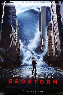 Geostorm - UK Cinema One sheet Poster - Very Good Condition!