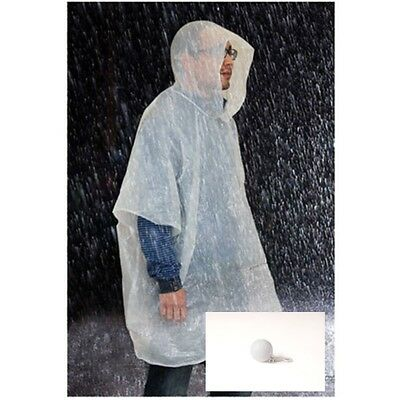 Set of 8 Golfing Rain Jacket Ponchos packed in a Plastic Golf Ball with clip